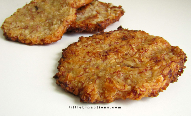Galletitas saludables con 2 ingredientes
