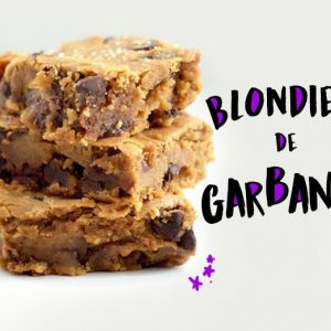 Blondies de garbanzo