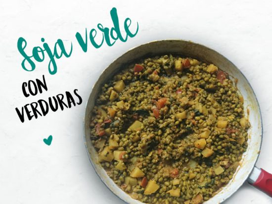 Soja verde con verduras