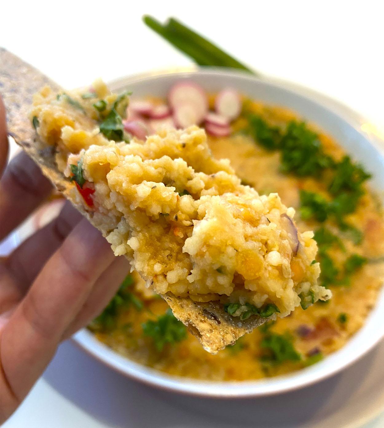 Kibbeh, receta árabe con lentejas