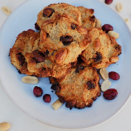 galletas cacahuete y arándanos