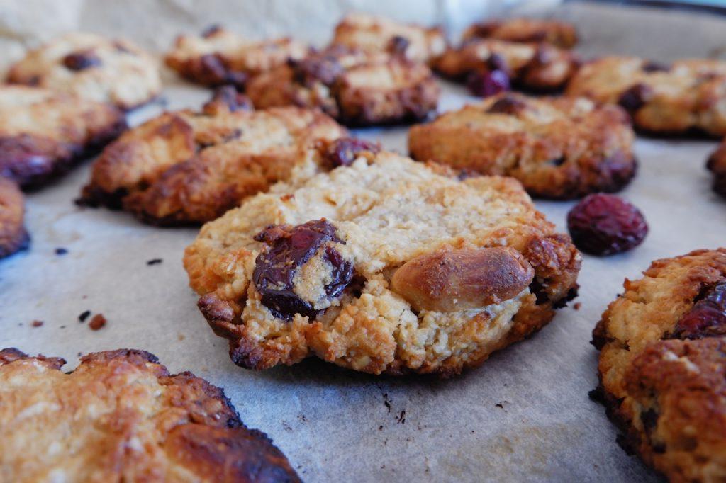 galletas cacahuete arandanos